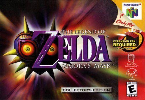The Legend Of Zelda Majora S Mask Collector S Edition Http Www Amazon Com Dp B000jvm256 Ref Cm Sw R Pi Awdl Nzuj Majoras Mask Zelda Wii Nintendo 64 Games