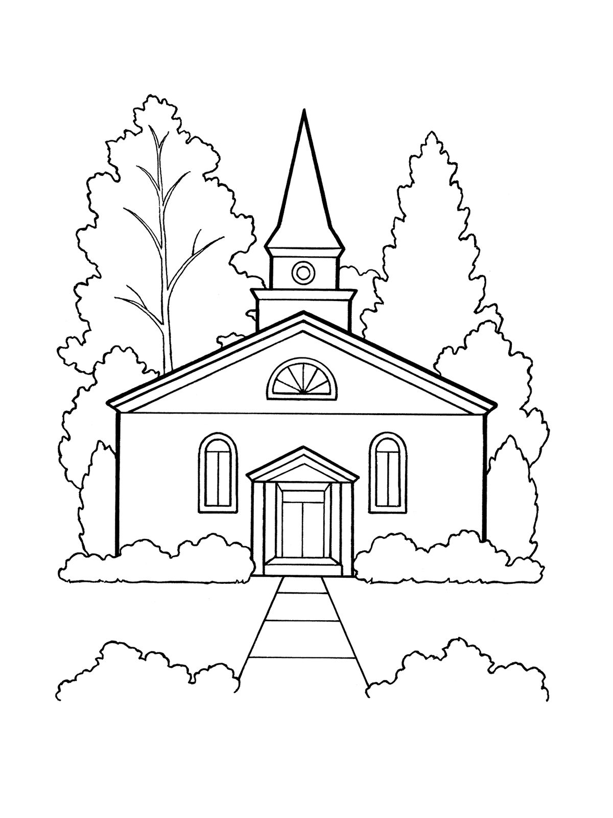 An Illustration Of The Eleventh Article Of Faith Worship A Church Building Family Coloring Lds Coloring Pages Free Coloring Pages