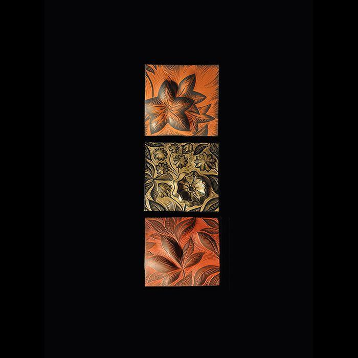 Mountain Laurel: handmade, ceramic wall art tile by Natalie Blake