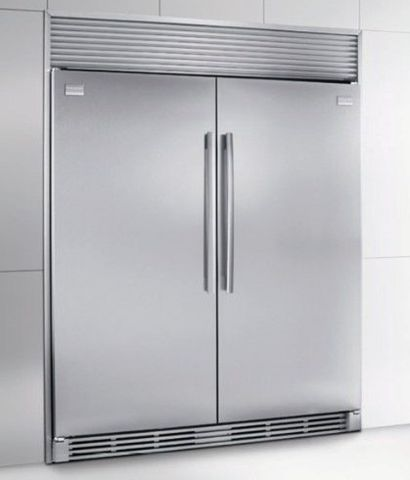 Frigidaire Stand Alone Freezer And Refrigerator Units In Pantry
