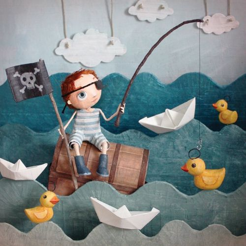 Carte La Peche Aux Canards Paper Art Paper Toys Paper