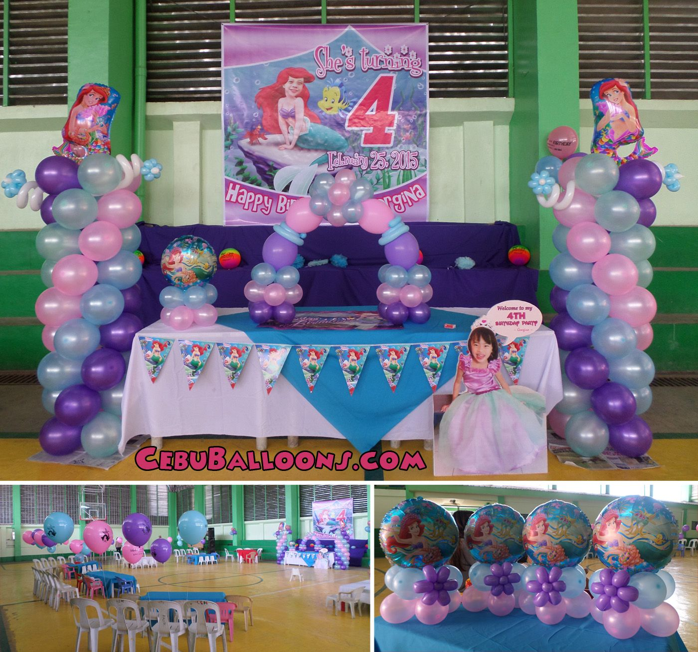 Best 25 little mermaid balloon decorations ideas on for Ariel birthday party decoration ideas