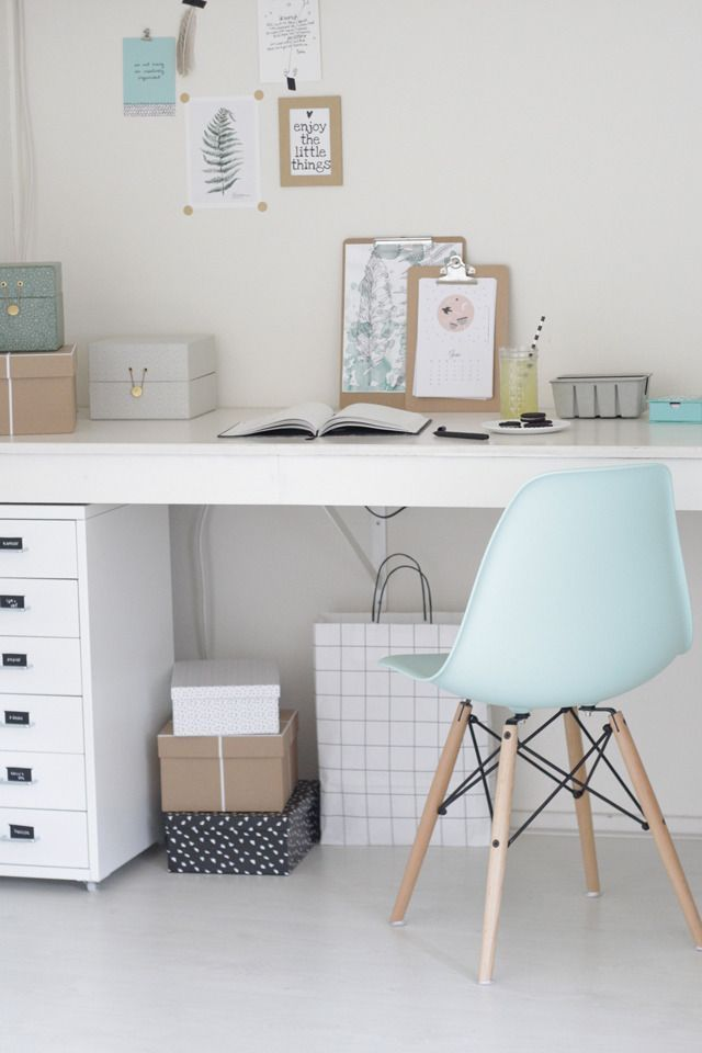 Dcoration Bureau Couleurs Pastel Chaise Eames