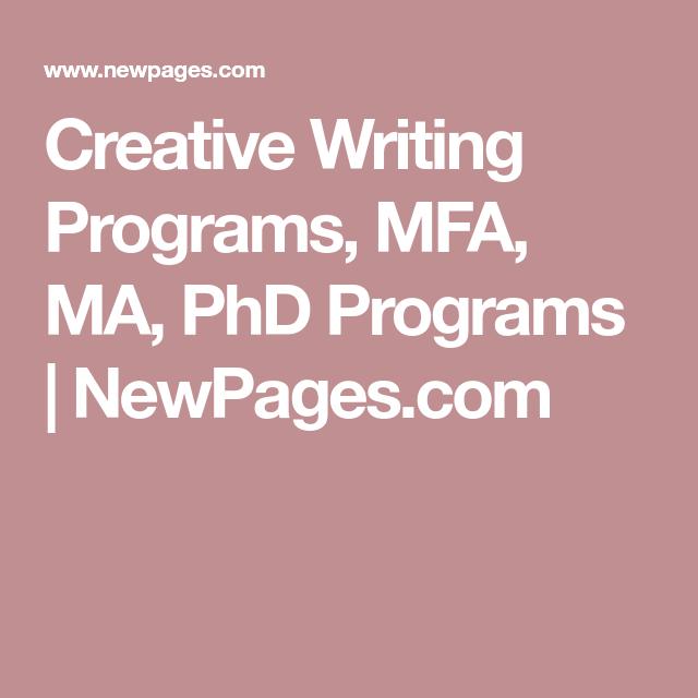 Phd programs creative writing