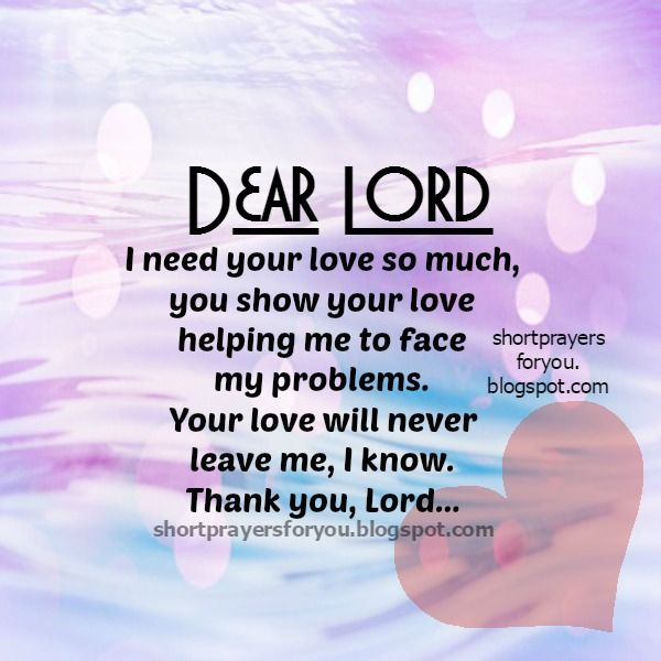 Short Simple Prayer Quotes: Short Prayer For You. Lord I
