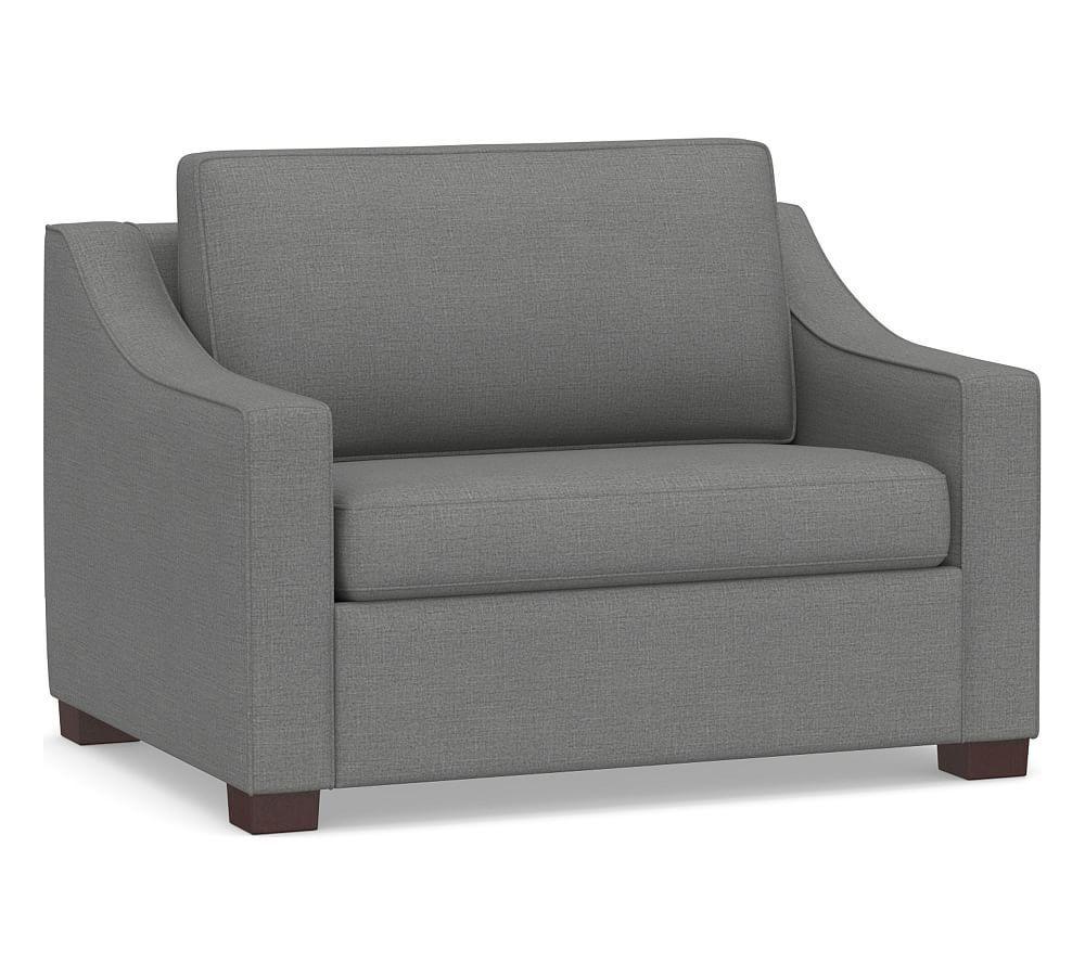 - Cameron Slope Arm Upholstered Deluxe Twin Sleeper Sofa Twin