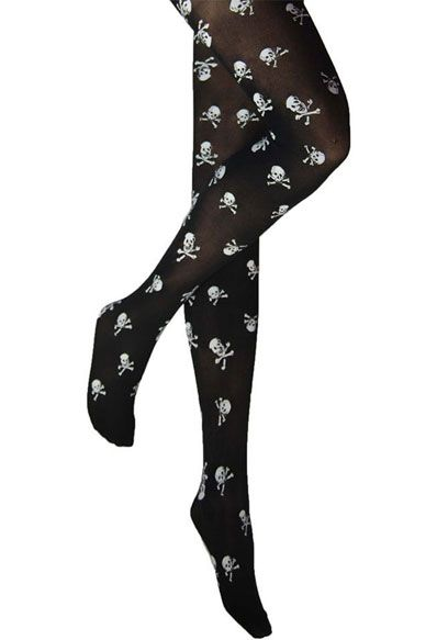02c4a3ee7 Legwear International Skull Print Tights