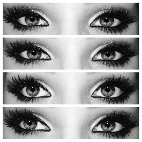 Makeup For Brown Eyed Girls - Eyes black and white makeup beauty