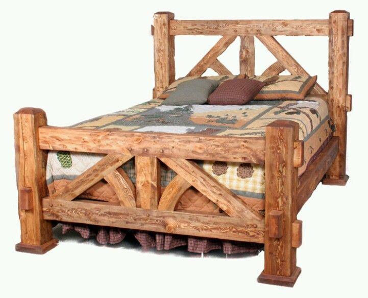 Solid Rustic Bed Rustic Bedroom Furniture Rustic Bedding Cabin Furniture