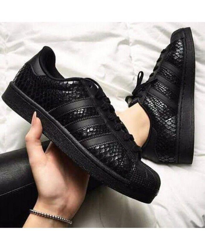 chaussures adidas superstar noir femme