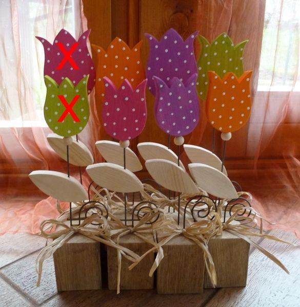 tulpen aus holz 2er set von marke eigenh ndig auf creative pinterest. Black Bedroom Furniture Sets. Home Design Ideas
