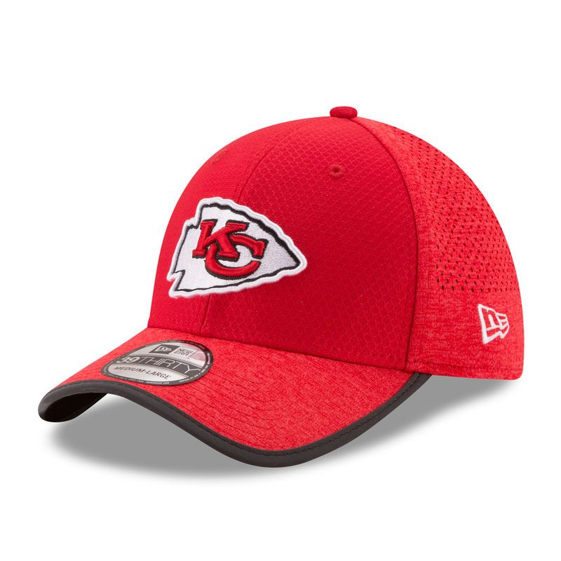 pick up b2f8c 7cb28 Kansas City Chiefs New Era 2017 Training Camp Official 39THIRTY Flex Hat -  Red