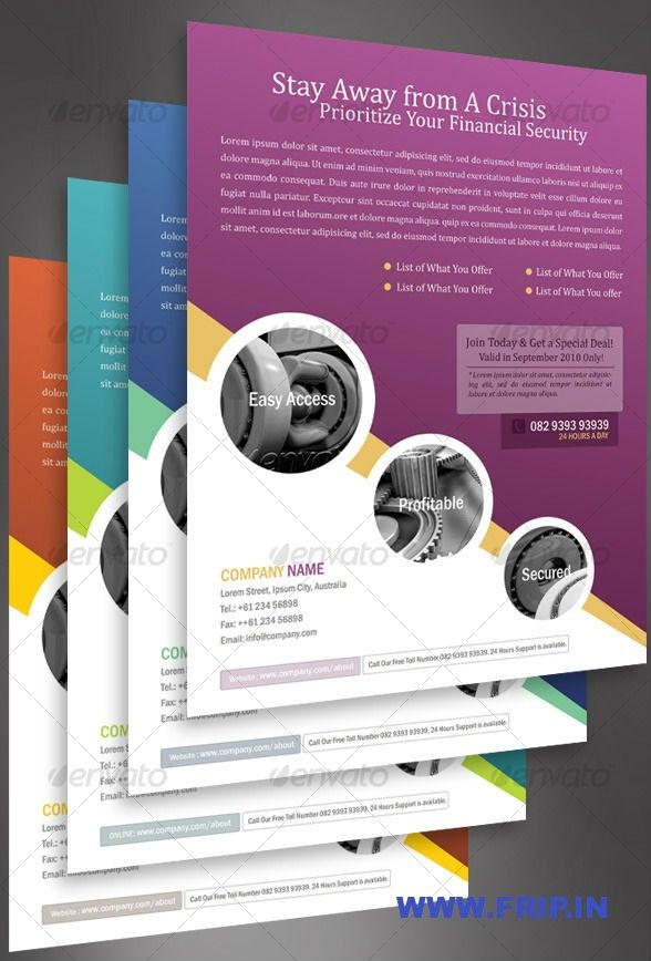 Best CorporateBusiness Flyers Print Templates  FripIn  Web