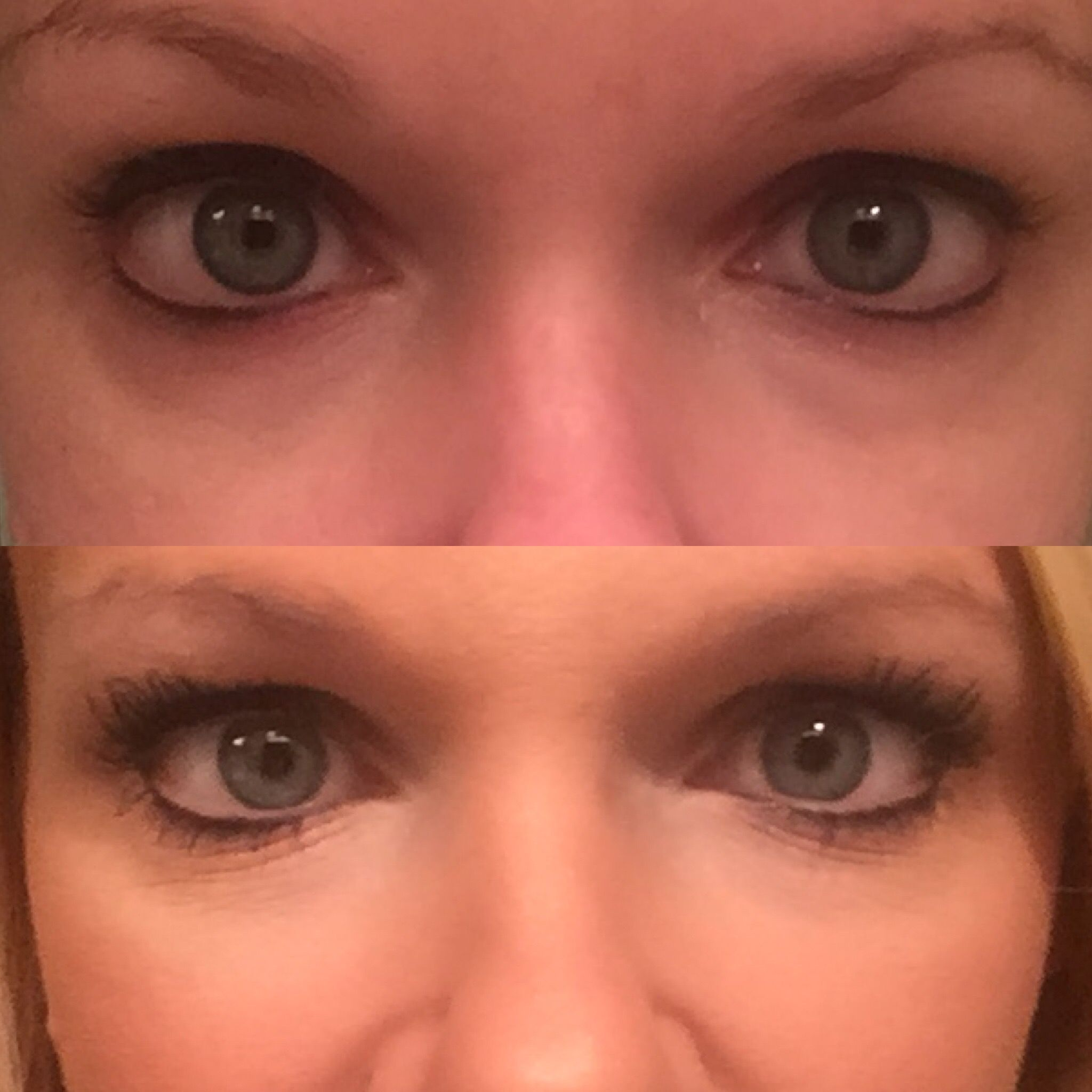 Before And After With Senegence Eye Illuminator And Candlelight