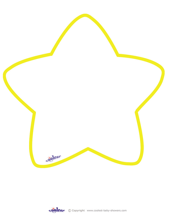 Rounded Star Template | Stars | Pinterest | Star template, Template ...