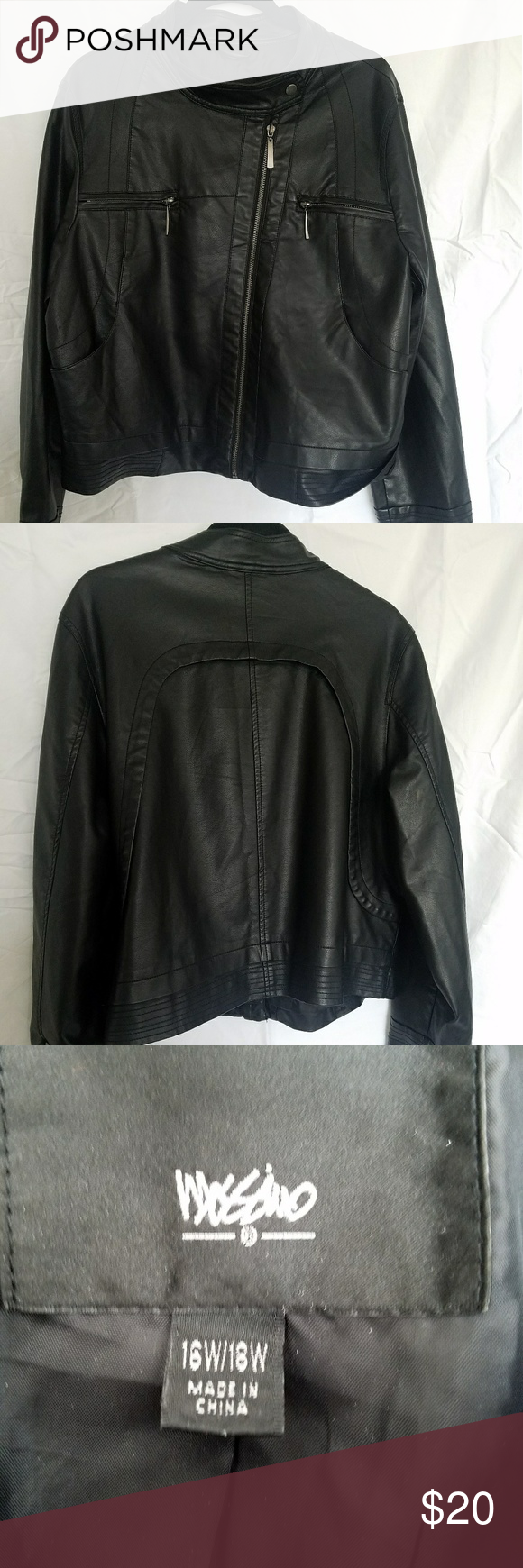 Mossimo Non Leather Jacket Leather Jacket Jackets Leather [ png ]