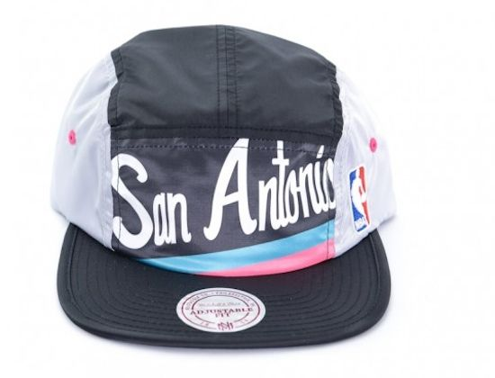c37f8d25efd23 San Antonio Spurs 5-Panel Hat by MITCHELL & NESS x NBA | Hat Galore ...