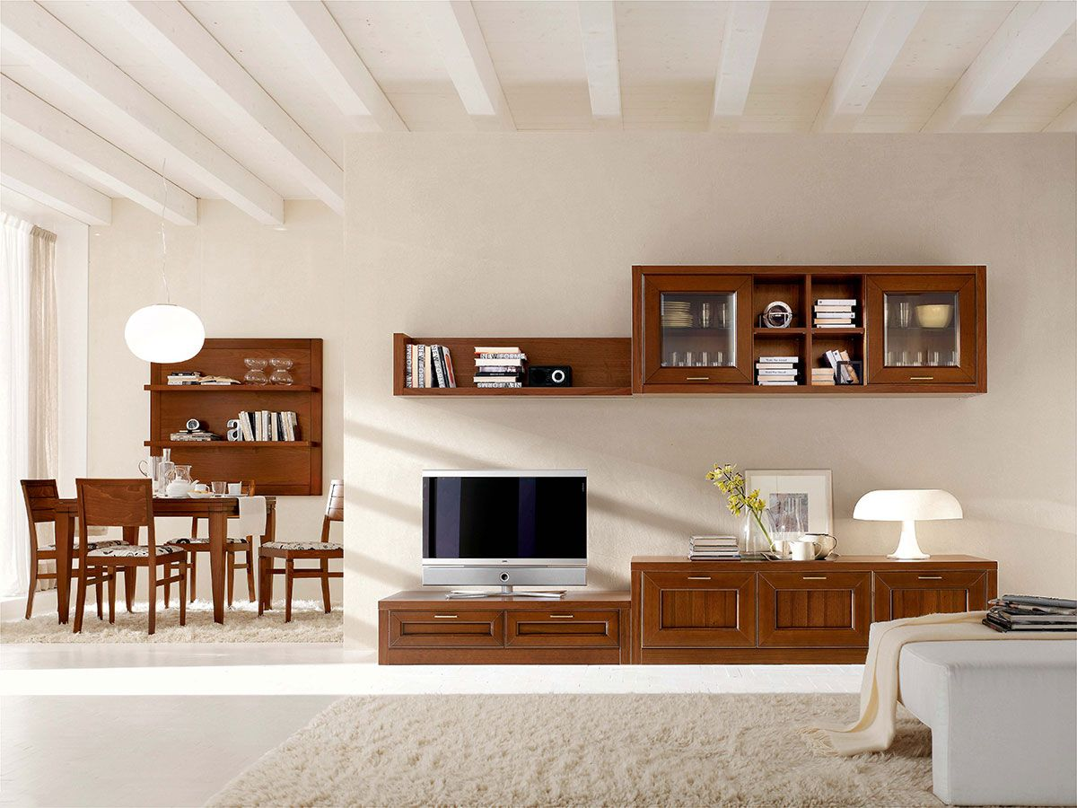 Composizione per il soggiorno collezione florian for Mobili per il soggiorno moderni