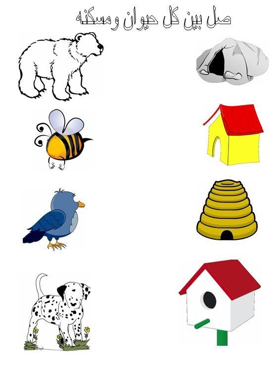 اوراق عمل لوحدة المسكن Preschool Activity Books Kids Learning Activities Early Learning Activities