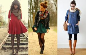 dcbdd4646 Looks de vestidos en invierno 4