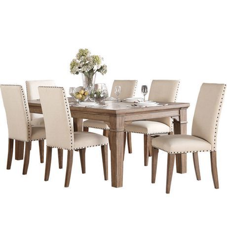 Buy Topline 7 Piece Dining Set From Walmart Canada Shop For More Dining Room Sets Available Online At In 2020 Kitchen Dining Sets Dinning Table Set 7 Piece Dining Set