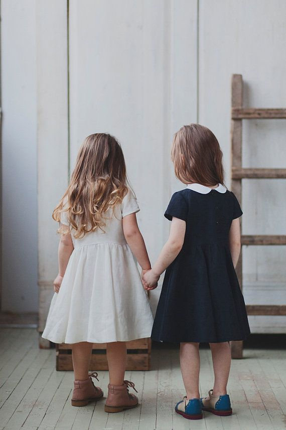 White collar dresses for kids