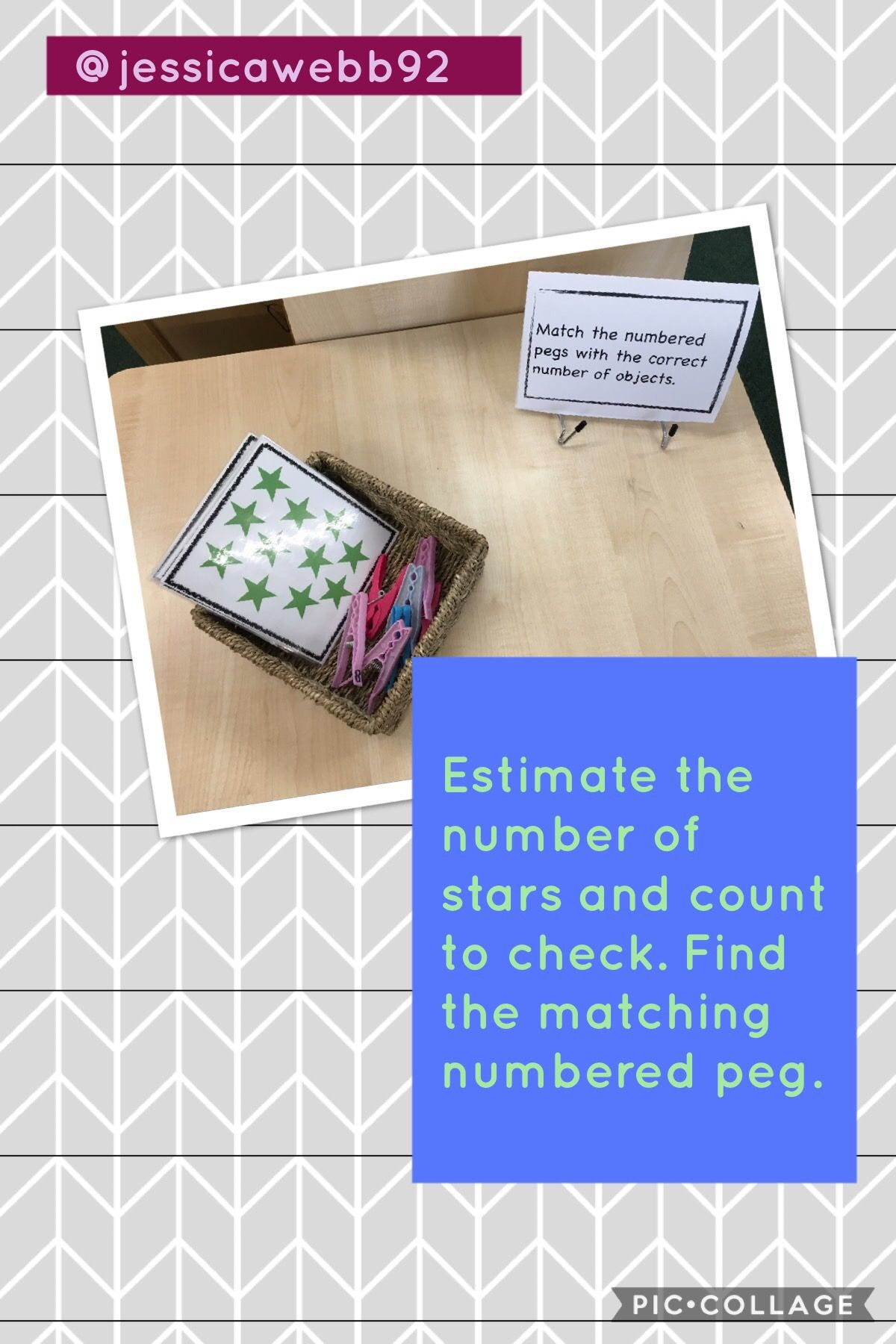 Estimate The Number Of Stars Count To Check And Attach The Correctly Numbered Peg Math Challenge Math Activities Math