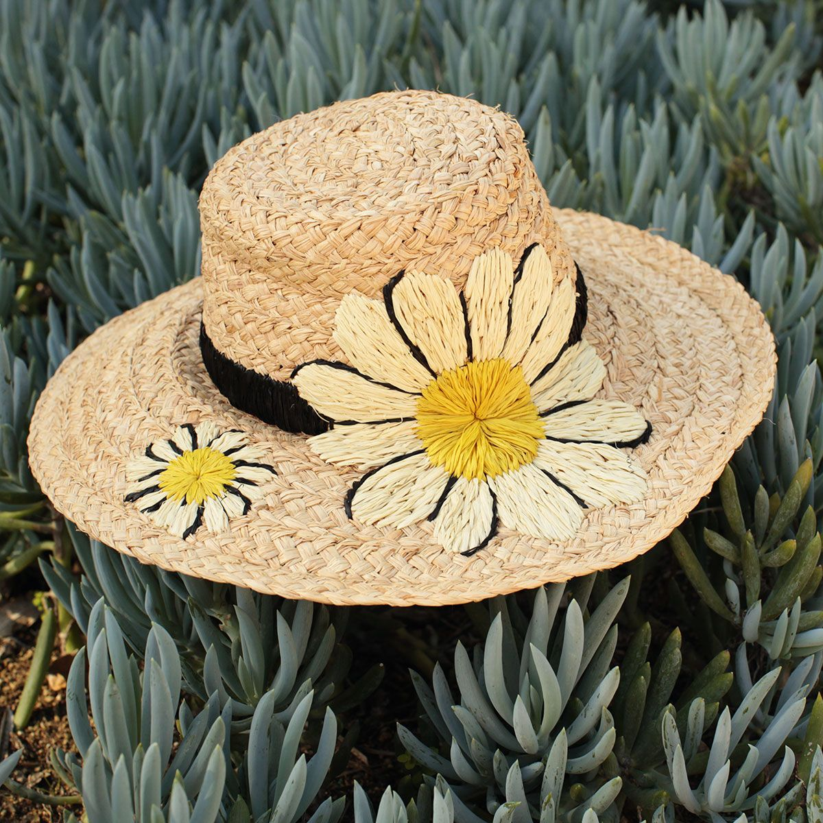 """#missadventure season 2, episode 1, """"the perfect weekend"""" featuring the embroidered daisy sunhat."""