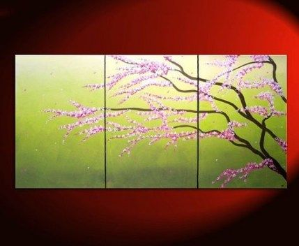26 Best Ideas For Flowers Painting Abstract Cherry Blossoms Painting Flowers Cherry Blossom