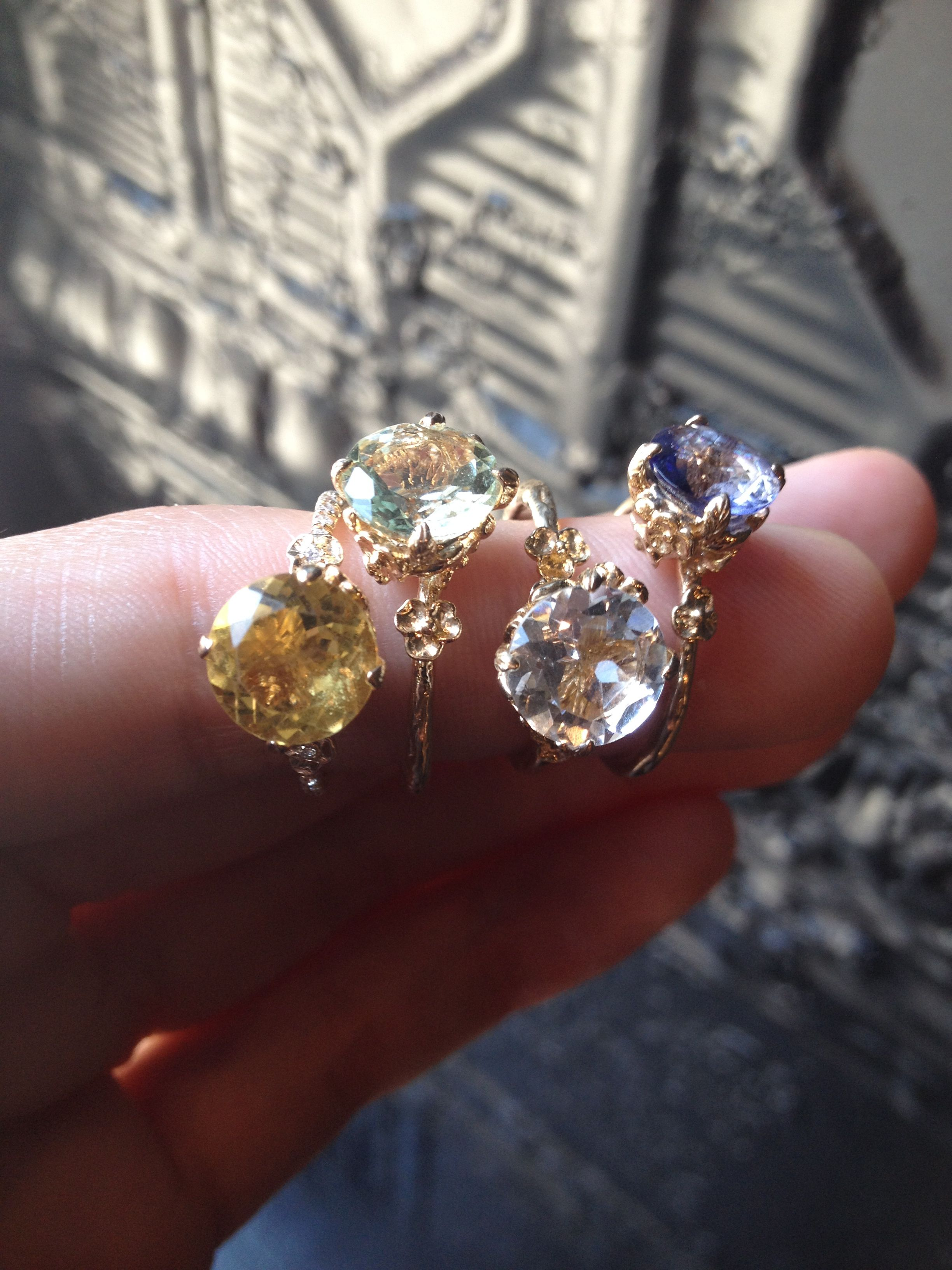 Citrine-Green Amethyst - White Topaz -Iolite Desiree