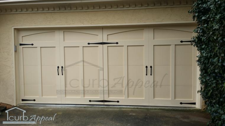 Carriage Style Garage Door Installed In Alpharetta Ga With