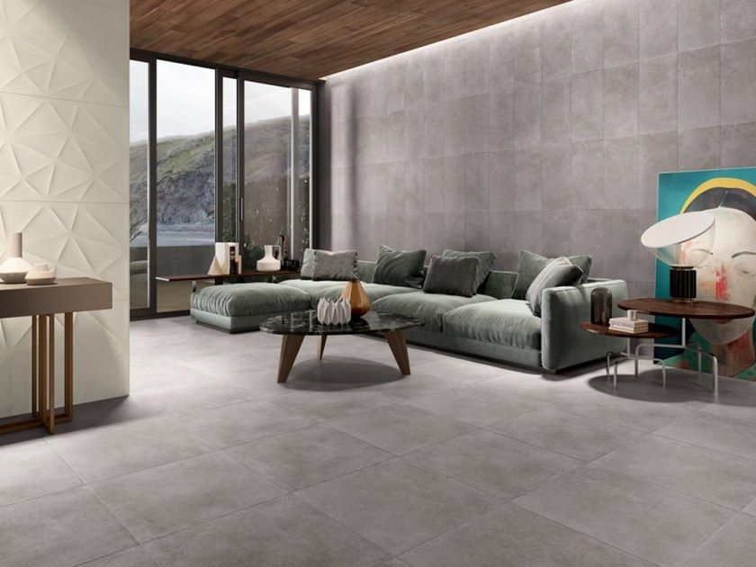 Large Format Square Tile Floor Layout Gray Matte Google Search