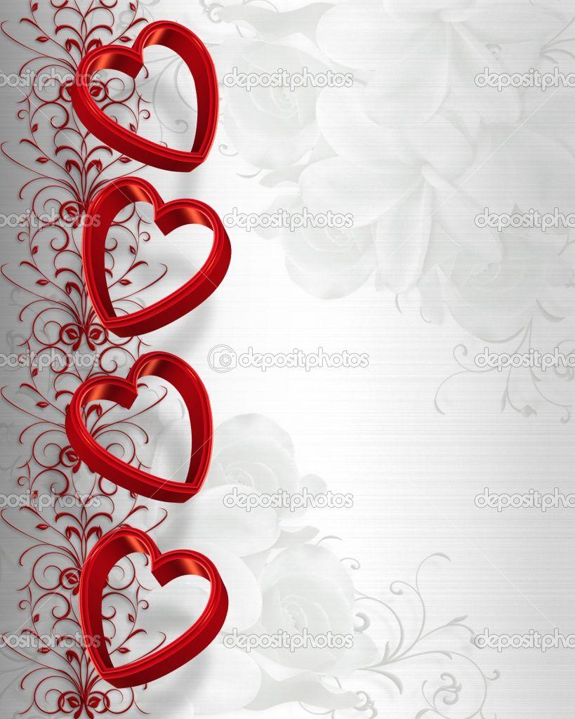 valentines day wedding invitations   Valentines Day Hearts Border ...