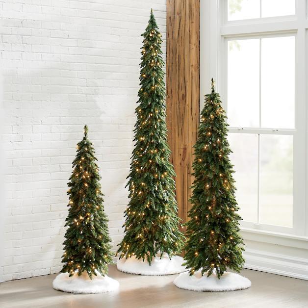 Down Swept Slim Pine Trees Grandin Road Pine Christmas Tree Christmas Decorations Christmas Tree Decorations