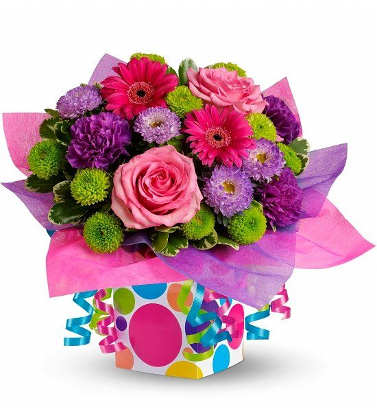 Confetti Present Bouquet Give The Gift Of A Birthday Present And A