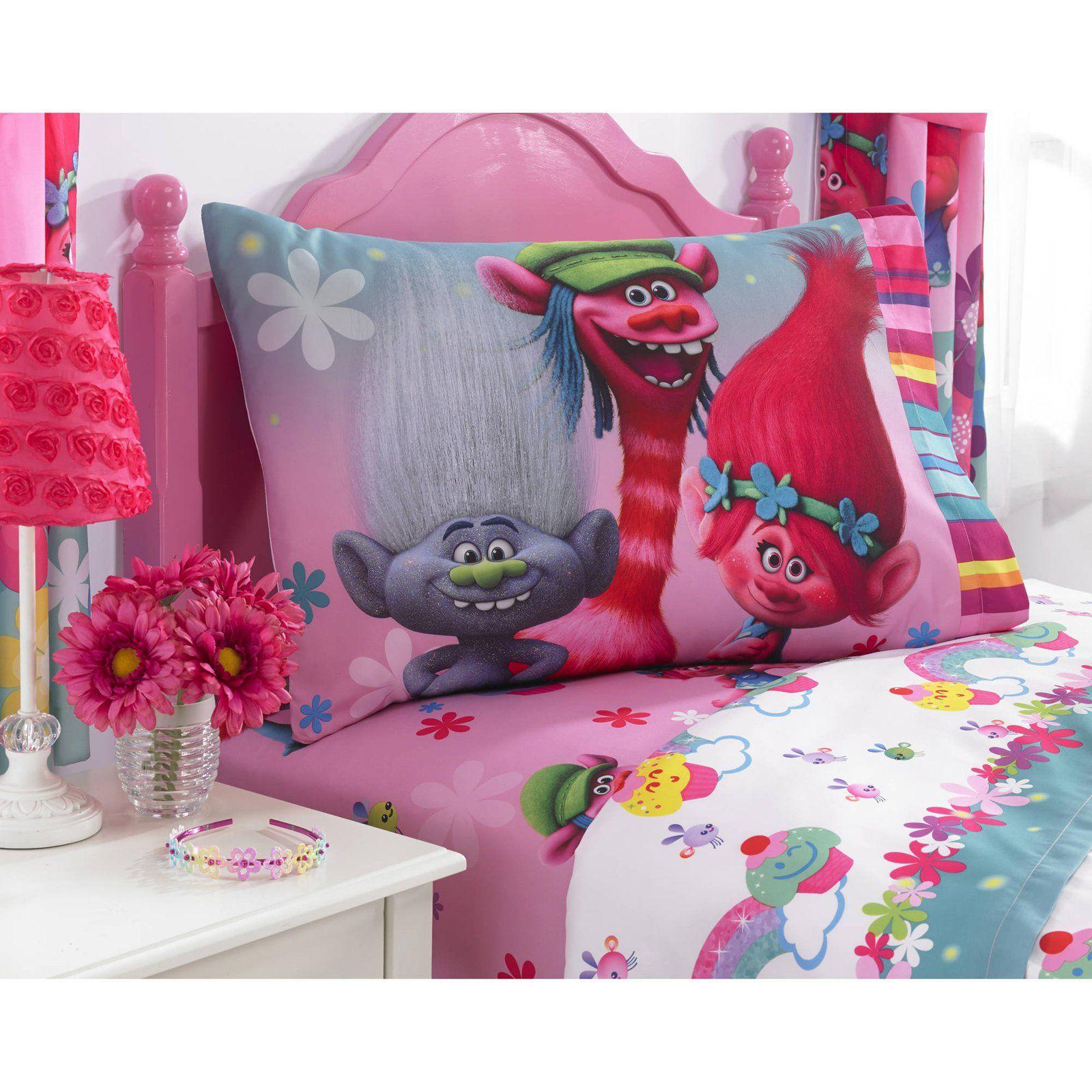 Children Bedding DreamWorks Trolls 5 Piece Kids Set Full//Twin+Plush