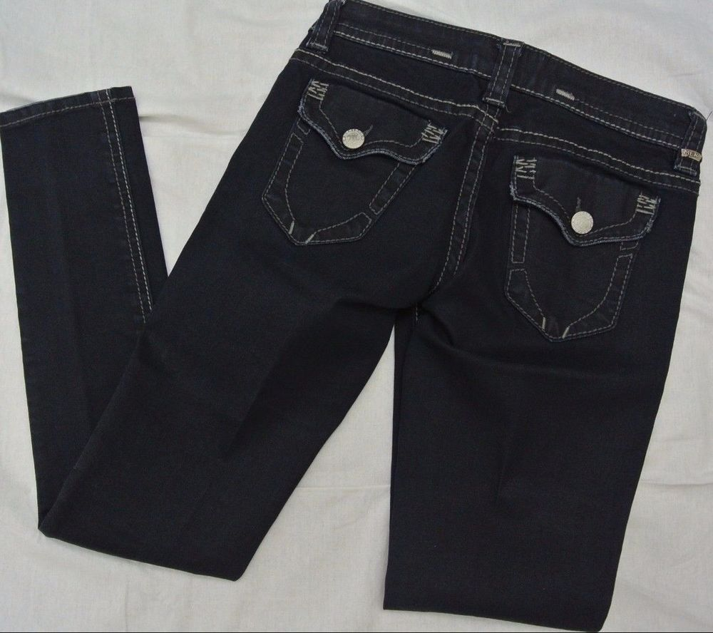 MEK DNM Denim Harbin Cigarette Slim Straight Skinny Jeans Indigo Women's 26 x 32 #MEK #StraightLeg