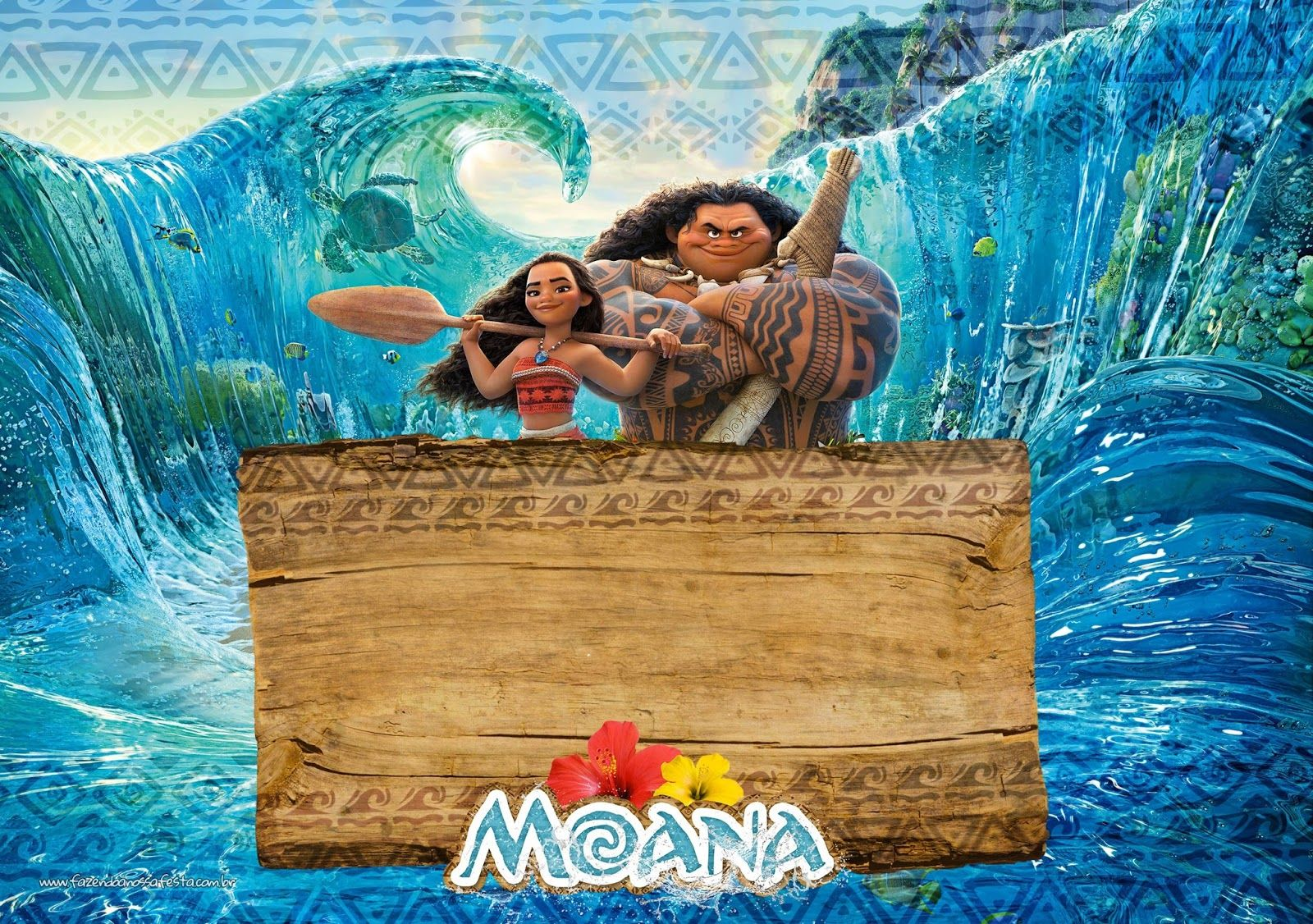 Moana Free Printable Invitations Moana Birthday Moana Invitation Moana Birthday Invitation