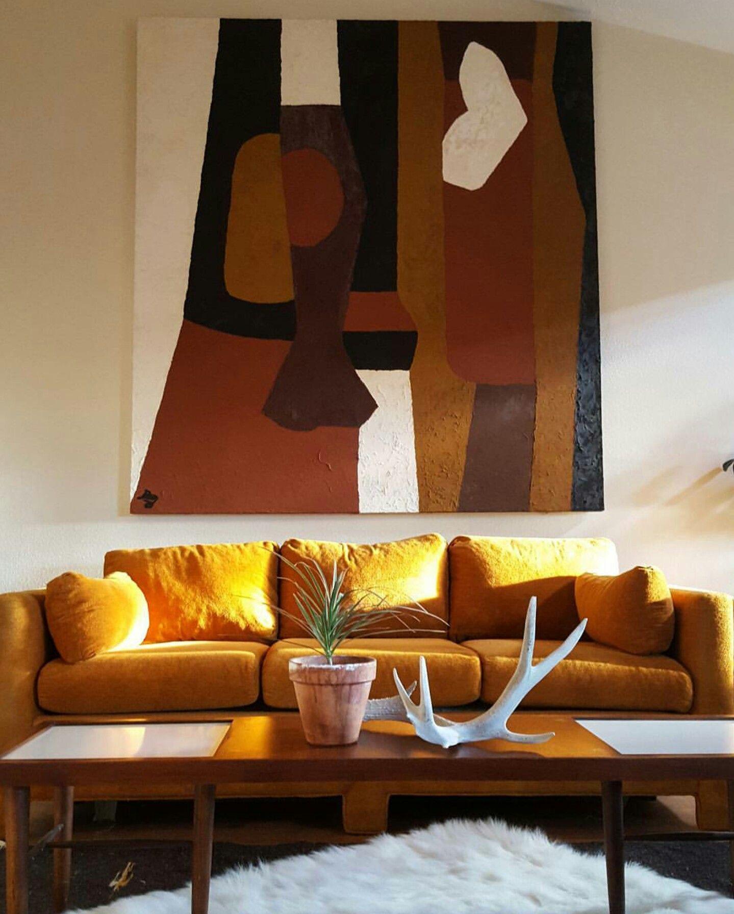 My Nest . #vintage #vintagestyle #midcentury #70s #60s #nest #abode #interiors #interiorstyling #decor #styling #art #artgoals