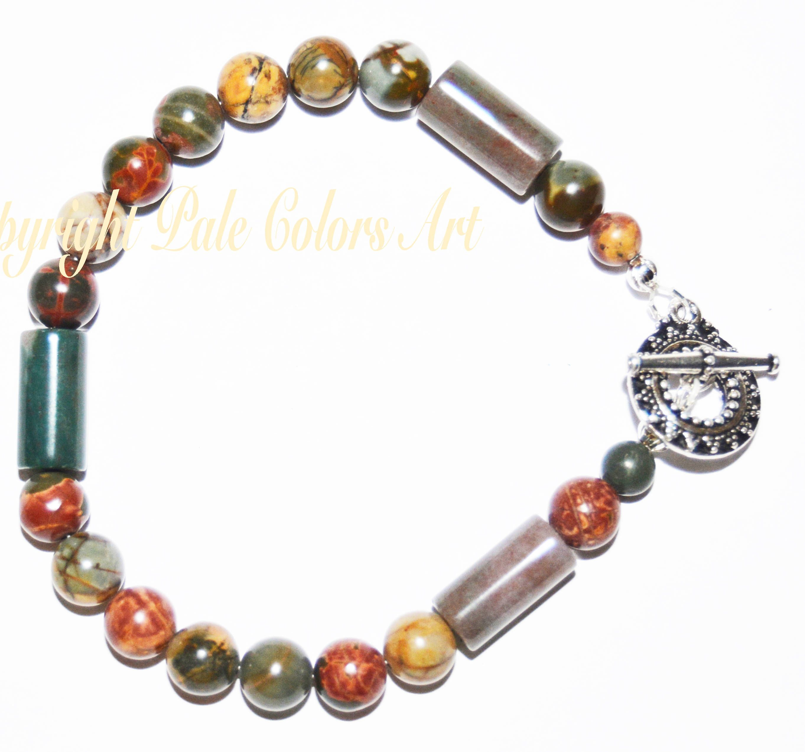 bracelet beaded peach stone bead products moonstone mikol