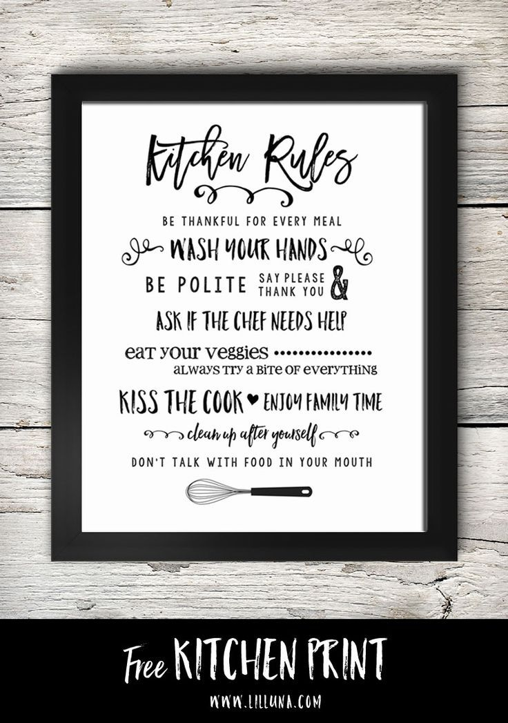 Kitchen Signs Decor Free Printable Kitchen Signs  Kitchen Idea's  Pinterest