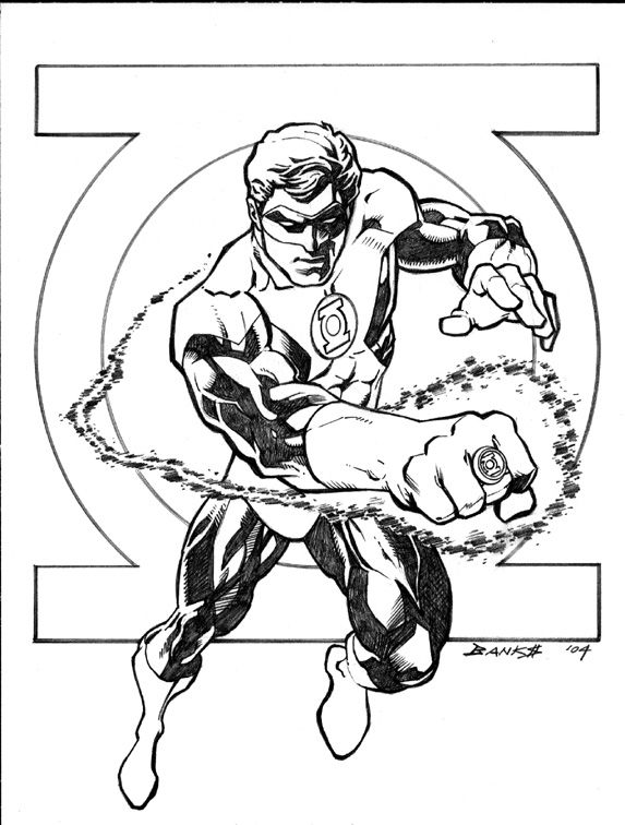 Image Detail For Getting Unique Green Lantern Coloring Pages Com