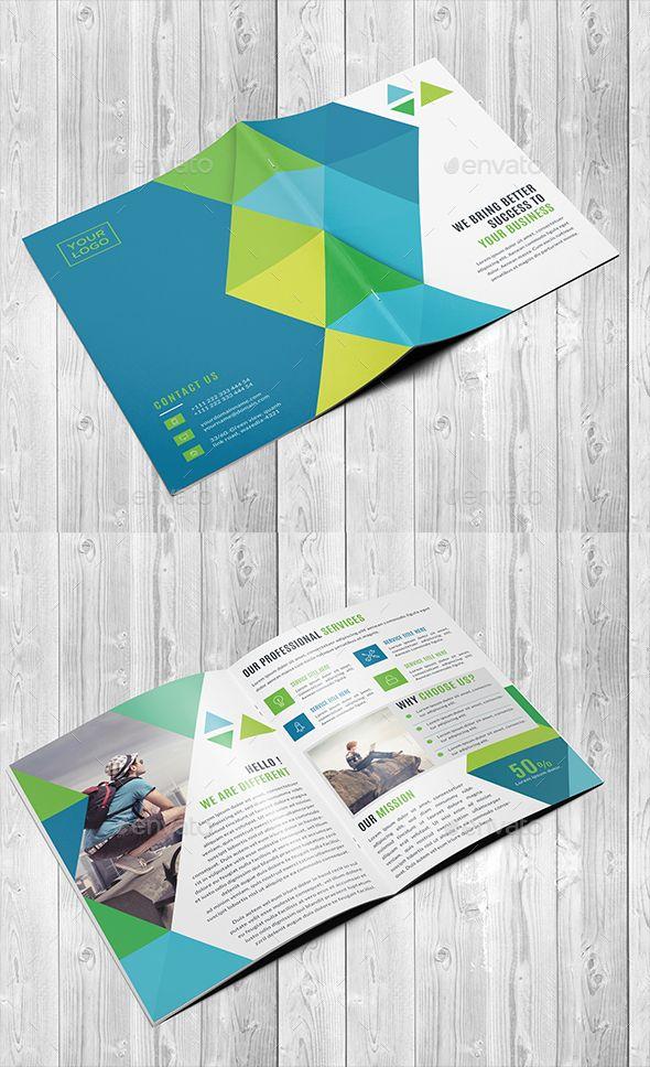 Corporate Bi Fold Brochure Template Brochure Template Brochures