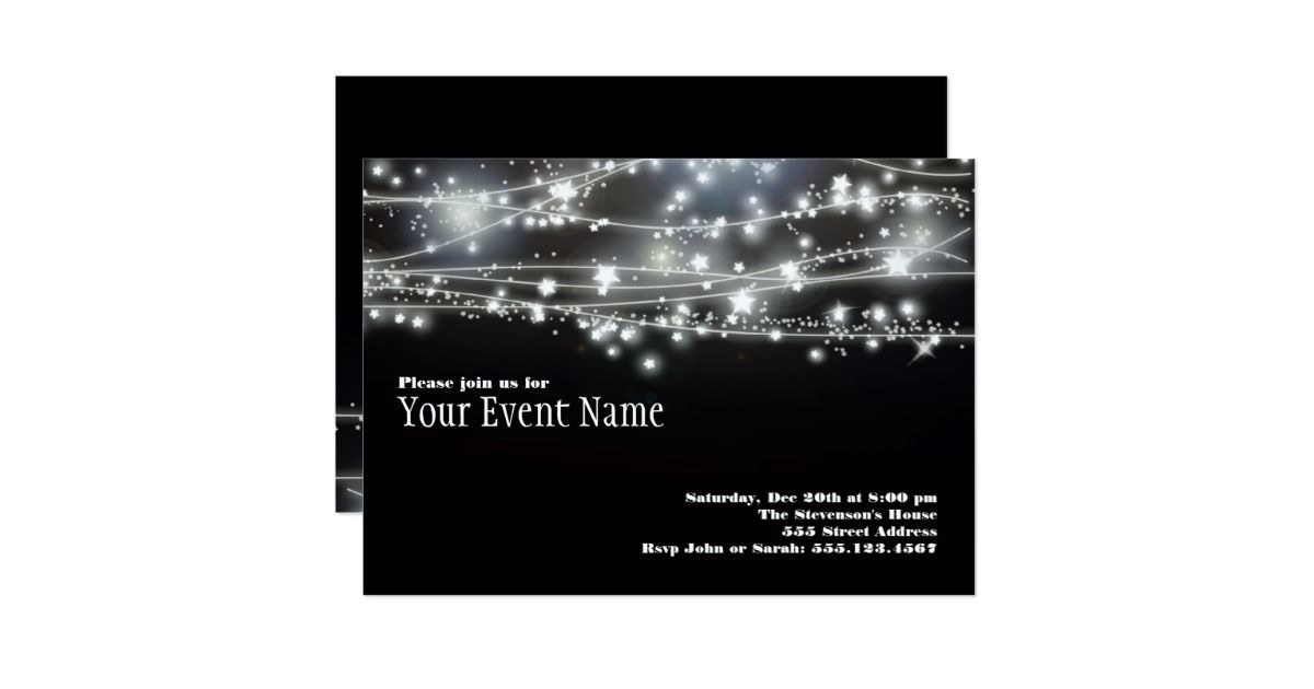 Festive design appropriate for many celebrations, whether it be a bachelorette party, graduation, awards dinner, dance party New Years Eve gala or 50th birthday. Arrange and re-size text as desired. Need help? Feel free to contact me and I'll be happy to assist.