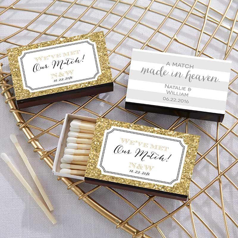 Personalized Black Matchboxes Wedding Kate Aspen Weddingfavorskateaspen Matchbook Wedding Favors Wedding Matches Wedding Match Boxes