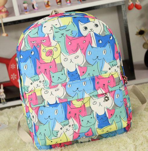 Школьный рюкзак с котиками