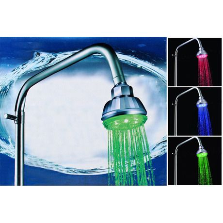 7 Color Changing Led Showerhead With Pressure Sensor Color Changing Led Led Shower Head Led Color