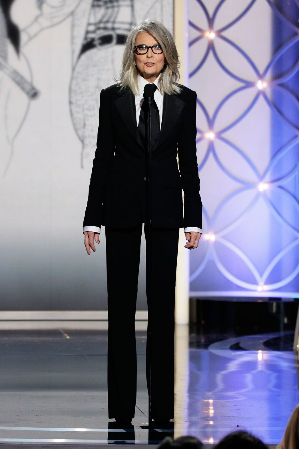 Golden Globes: Diane Keaton Accepts Woody Allen's Cecil B. DeMille Award -  The Hollywood Reporter