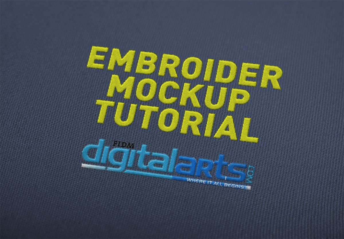 Learn how to create an embroider mockup in photoshop | photoshop.