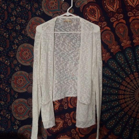 Hollister white cardigan Lightweight knit cardigan. Perfect